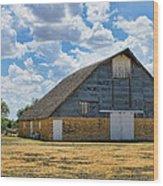 Kansas Stone Barn Wood Print