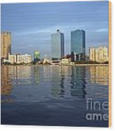 Kaohsiung City Waterfront In The Late Afternoon Wood Print