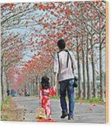 Kapok Road Wood Print by Frank Chen