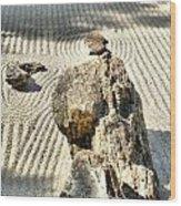 Karesansui - Dry Landscape Garden Wood Print
