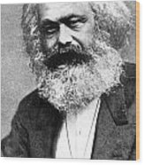 Karl Marx Wood Print