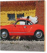 Karmann Ghia Wood Print