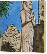 Karnak Temple Egypt Wood Print by Irina Sztukowski