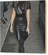 Kate Beckinsale Out And About For Kate Wood Print by Everett