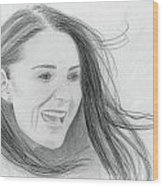 Kate Middleton - Duchess Of Cambridge Wood Print by Pat Moore