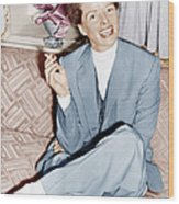 Katharine Hepburn In England, Ca. 1952 Wood Print