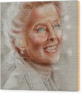 Katherine Hepburn Wood Print