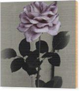 Kathleen's Garden Rose Wood Print