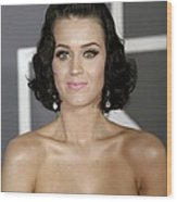 Katy Perry At Arrivals For Arrivals - Wood Print