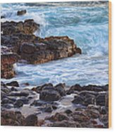 Kauai Rocks Wood Print