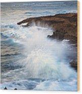 Kauai Sea Explosion Wood Print