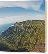 Kaulalu Panorama Wood Print