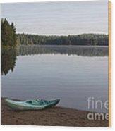 Kayak On Pog Lake Wood Print by Chris Hill