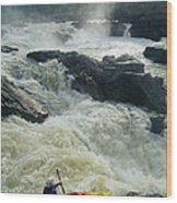 Kayaker Running Maryland Side Of Great Wood Print