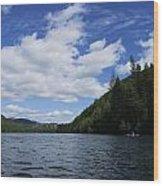 Kayaking A Jewel Wood Print