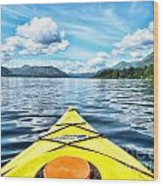 Kayaking In Bc Wood Print