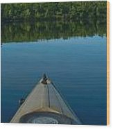 Kayaking Range Ponds 0003 Wood Print