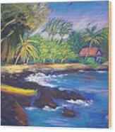Kealakekua Bay Wood Print by Karin  Leonard