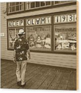Keeping Clam Since 1938 Wood Print