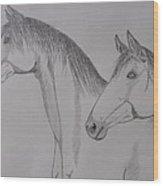Keiger Mustangs Wood Print