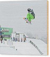 Kelly Clark Womens U S Snow Boarding Open 2011 Wood Print