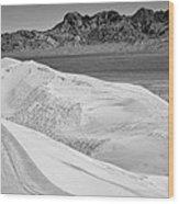 Kelso Sand Dunes 2 Bw Wood Print