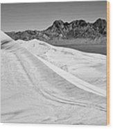Kelso Sand Dunes Bw Wood Print