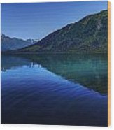 Kenai Lake Blues Wood Print