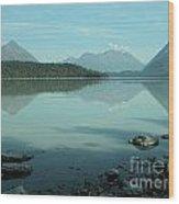 Kenai Lake Reflections Wood Print