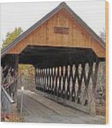 Keniston Covered Bridge Wood Print