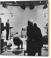 Kennedy/nixon Debate, 1960 Wood Print