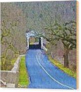Kennedy's Bridge Over French Creek Wood Print