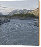 Kennicott River And The Wrangell Wood Print