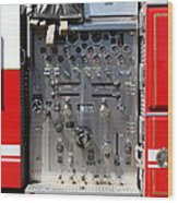 Kensington Fire District Fire Engine Control Panel . 7d15856 Wood Print by Wingsdomain Art and Photography