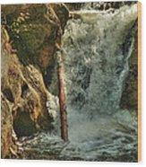 Kent Falls Redux Wood Print
