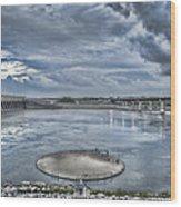 Kentucky Dam Dusk Wood Print