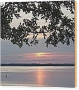 Kentucky Lake At Sunsset Wood Print