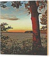 Kentucky Lake Sunrise Wood Print