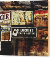 Kentucky Shed Ad Signs Wood Print