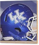Kentucky Wildcats Football Helmet Wood Print