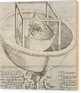 Kepler's Cosmological Model, Artwork Wood Print by Humanities And Social Sciences Libraryrare Books Divisionnew York Public Libraryscience Photo