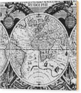 Keplers World Map, Tabulae Wood Print by Science Source
