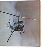 Kern County Fire Copter #408 Wood Print