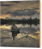Ketring Lake Sunset Wood Print