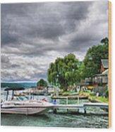 Keuka Lake Shoreline Wood Print