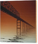 Key Bridge Wood Print