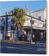 Key West Bar Sloppy Joes Wood Print by Susanne Van Hulst