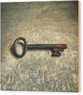 Key With Blood On It. Wood Print