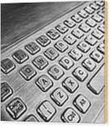 Keyboard Wood Print