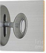 Keyhole With Key Wood Print